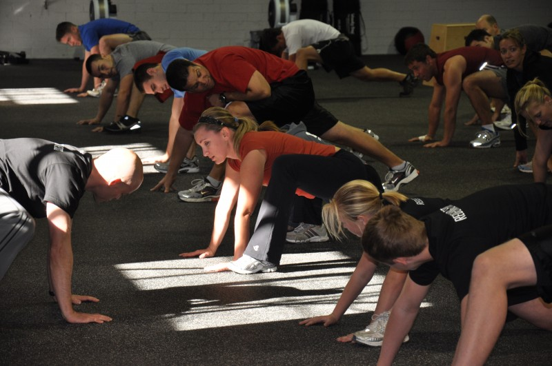 Groiners - a version of mountain climbers - are a wonderful way to start your day.