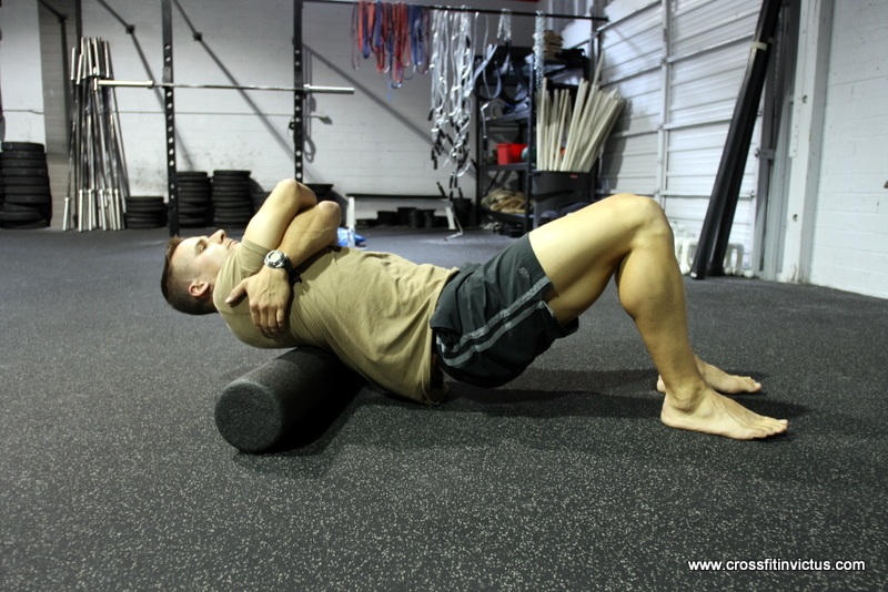 Thoracic Spine Foam Roll at CrossFit Invictus San Diego