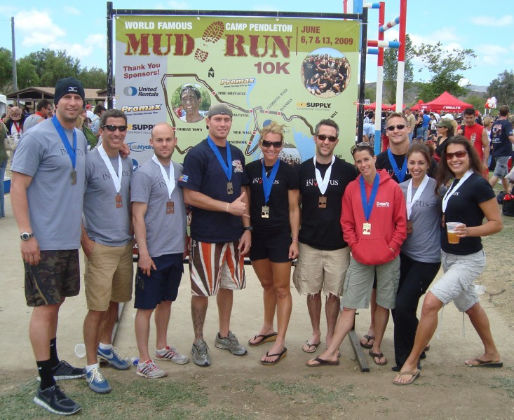 Our two teams took first and third place at the Camp Pendleton Mud Run on Saturday. Next task, world domination.