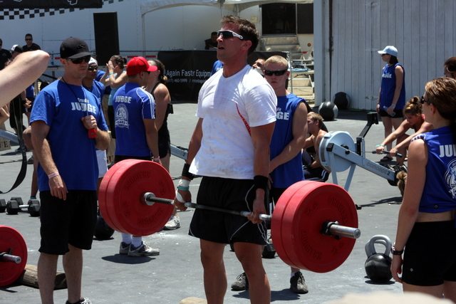 Adam T. stands tall on the deadlift