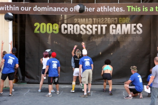 M finished in the top ten for the final event - wall ball/snatch