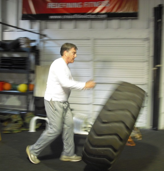 Harvey bowling with tires