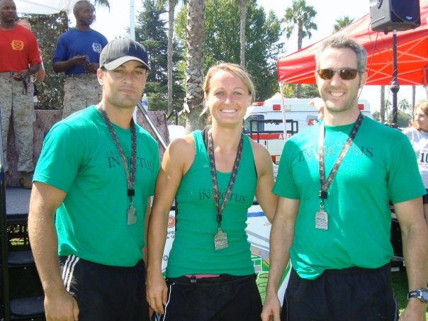 Champs again! Invictus Team Speed - Josh E., Katie Mac, Sean E. - came through with a second place finish in the mixed team division.