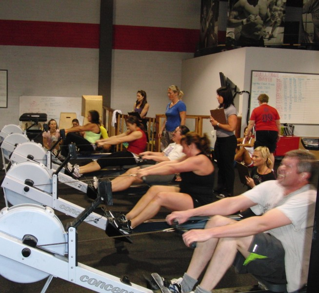 Rowing at CrossFit Invictus San Diego