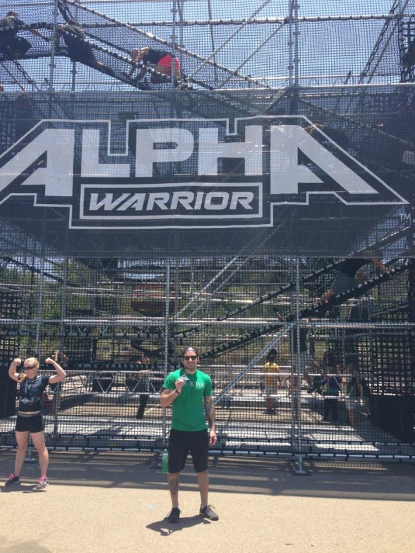 Kyle B. using his fitness and representing Invictus at the Alpha Warrior Challenge