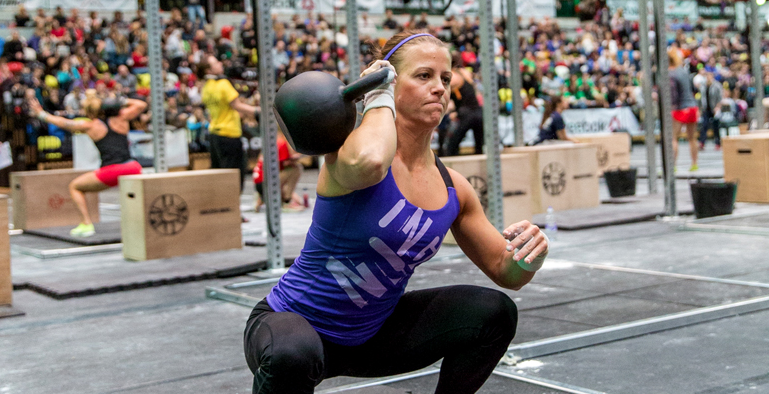 CrossFit Games Athlete Kristin Holte at CrossFit Invictus San Diego