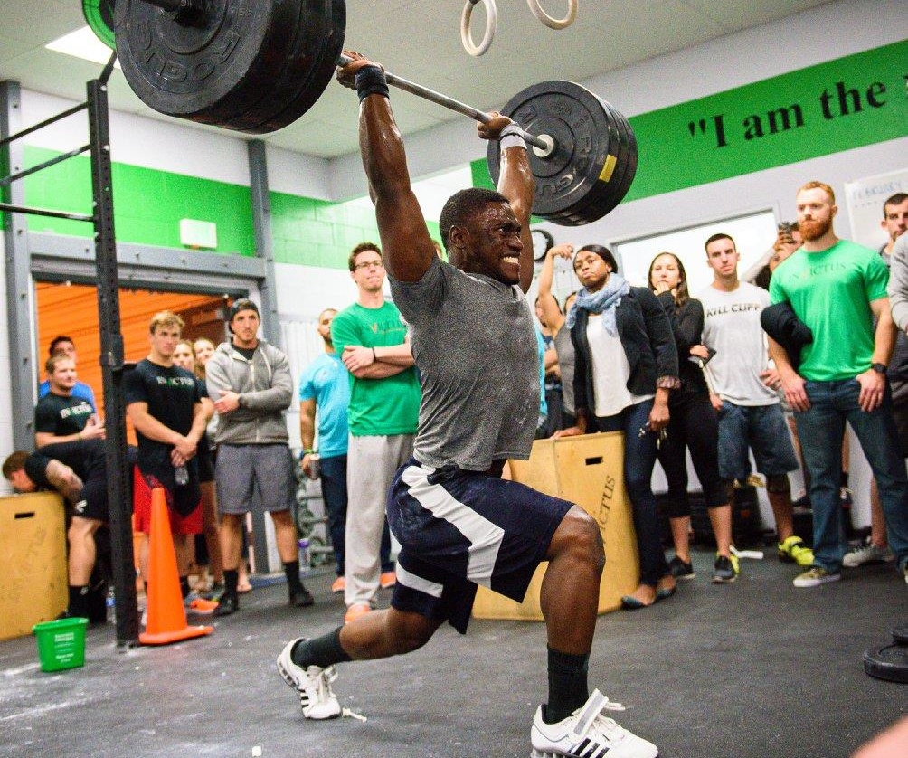 TJ Hunter at the CrossFit Invictus Friday Night Lights in San Diego