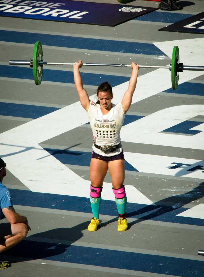 Invictus Athlete Camille LeBlanc Bazinet at the 2014 CrossFit Games