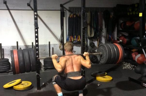 CrossFit Athlete and NPGL Athlete Rasmus Andersen at CrossFit Invictus in San Diego