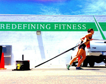 Sled Pulling at CrossFit Invictus in San Diego