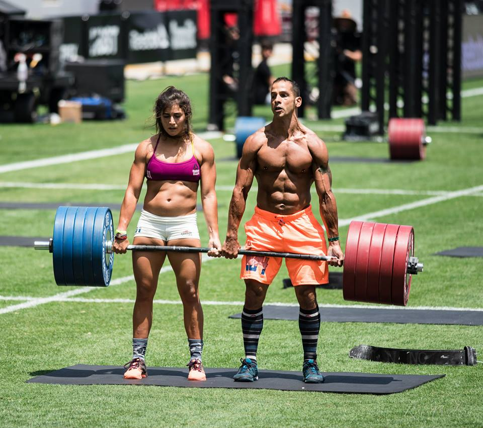 Nuno and Lauren of Team Invictus at the CrossFit Games 2015