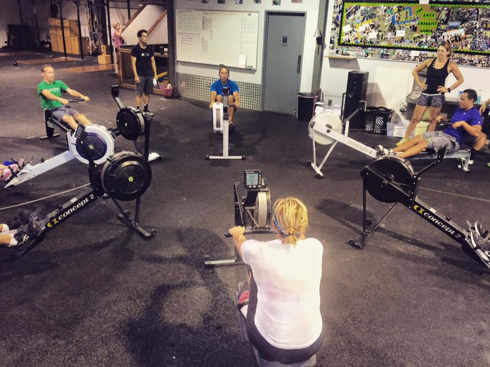 Coach Gaje's Rowing Circle at CrossFit Invictus in San Diego