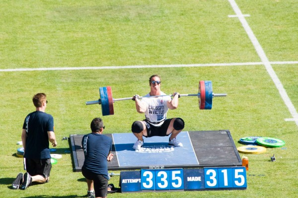 B Miller 335 Clean and Jerk at 2015 Games