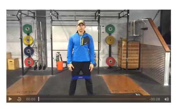 Coach Shane Demostrating Bannded Squats