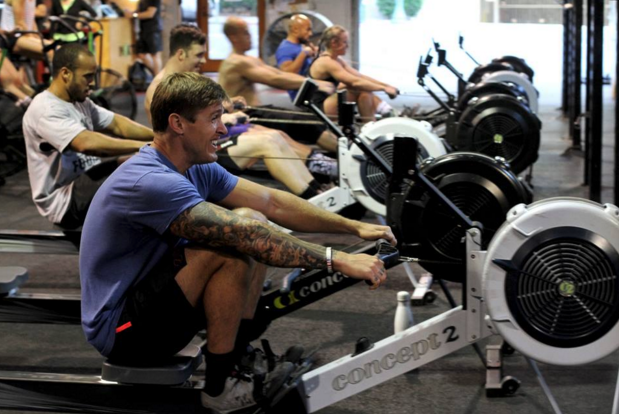 Rowing Intervals at CrossFit Invictus
