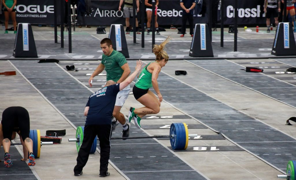 Barbell Burpees at Regionals
